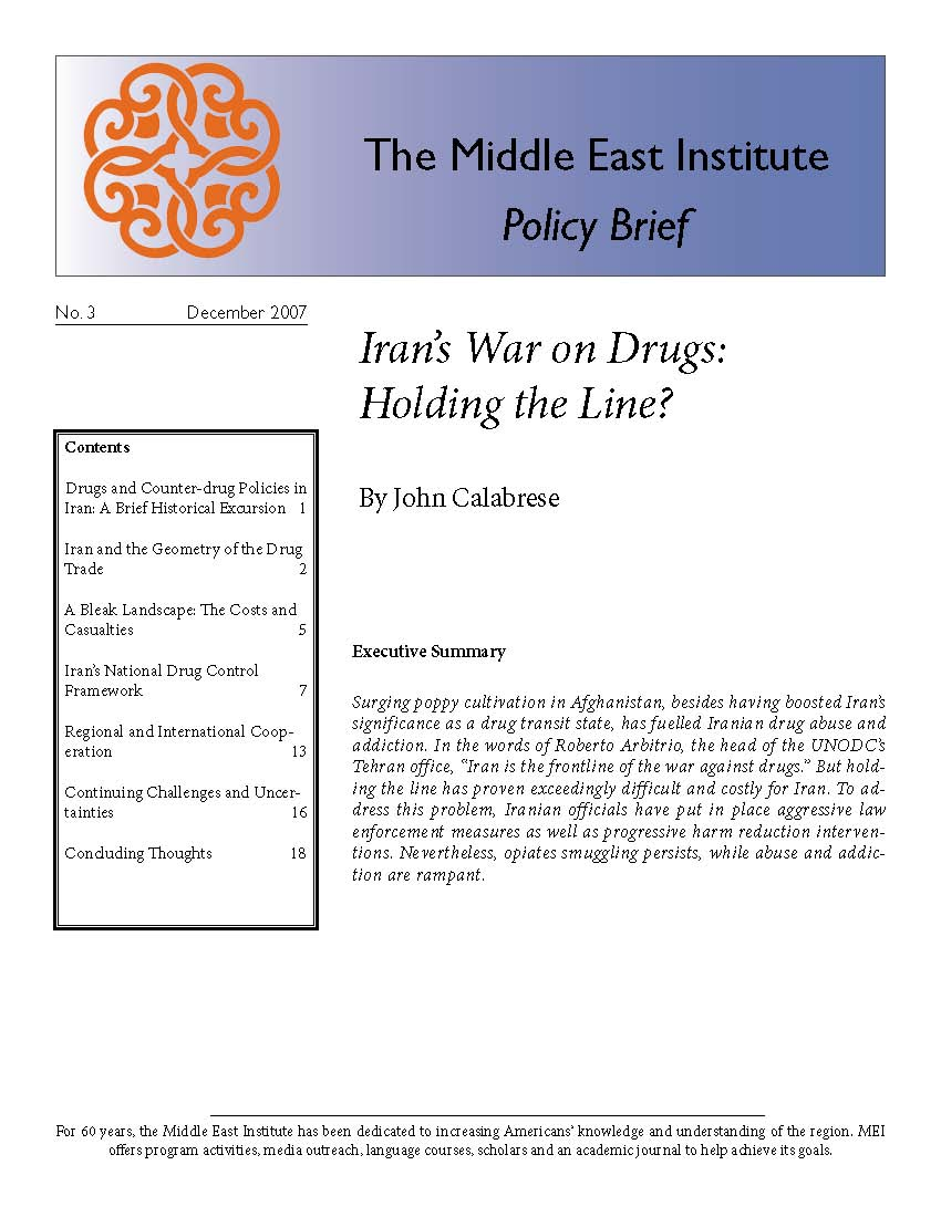 Iran's War on Drugs: Holding the Line?