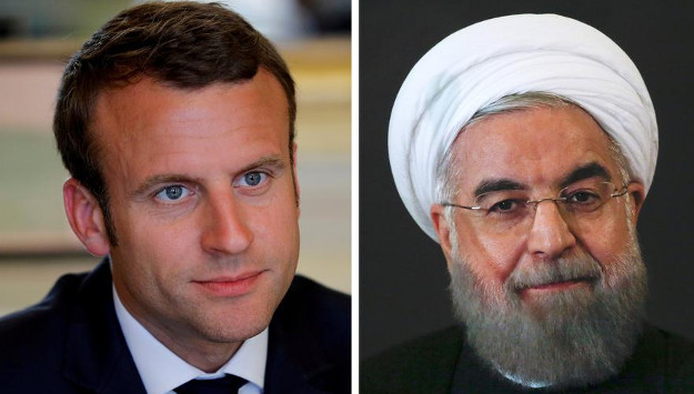 Rouhani Talks with Macron amid Anti-Regime Protests across Iran
